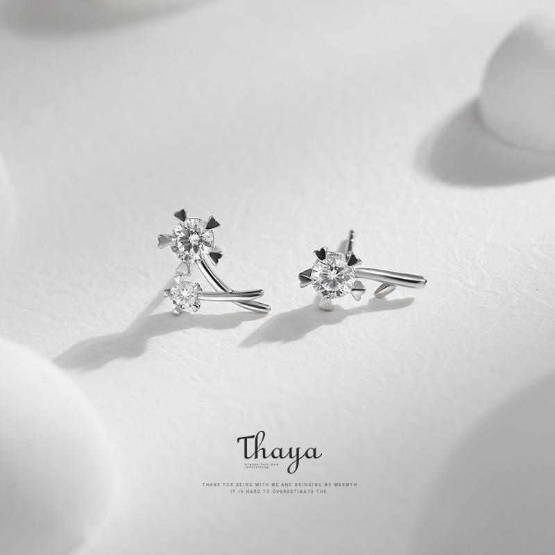 Dandelion Sterling Silver Necklace & Earring Set