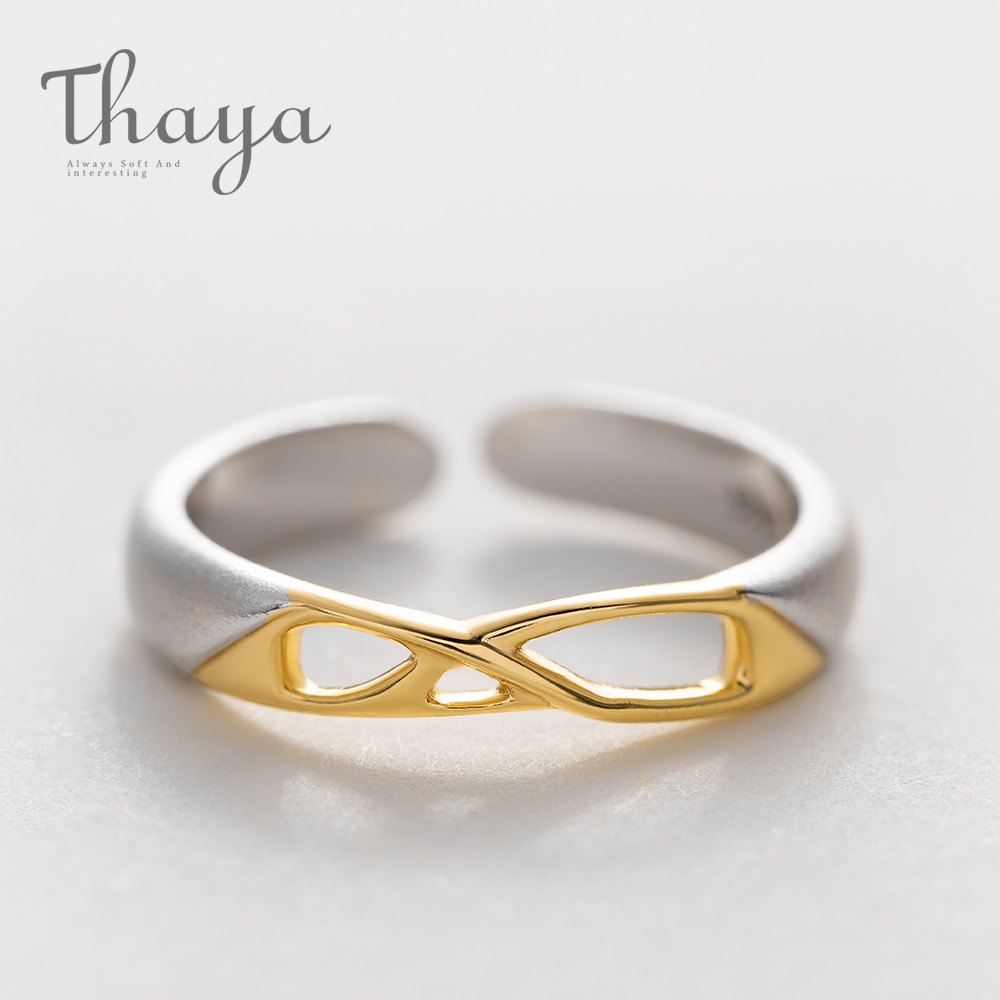 Geometric Hollow Golden Ring