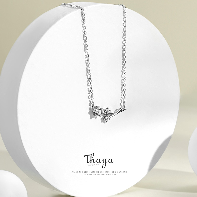 Dandelion Sterling Silver Necklace & Earring Set