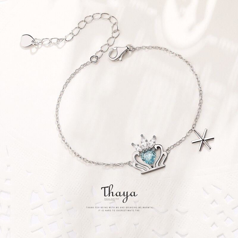 Silver Crown & Charm Bracelet - Fairy Tale Series