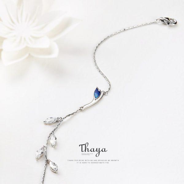 Vines & Blue Crane Bracelet