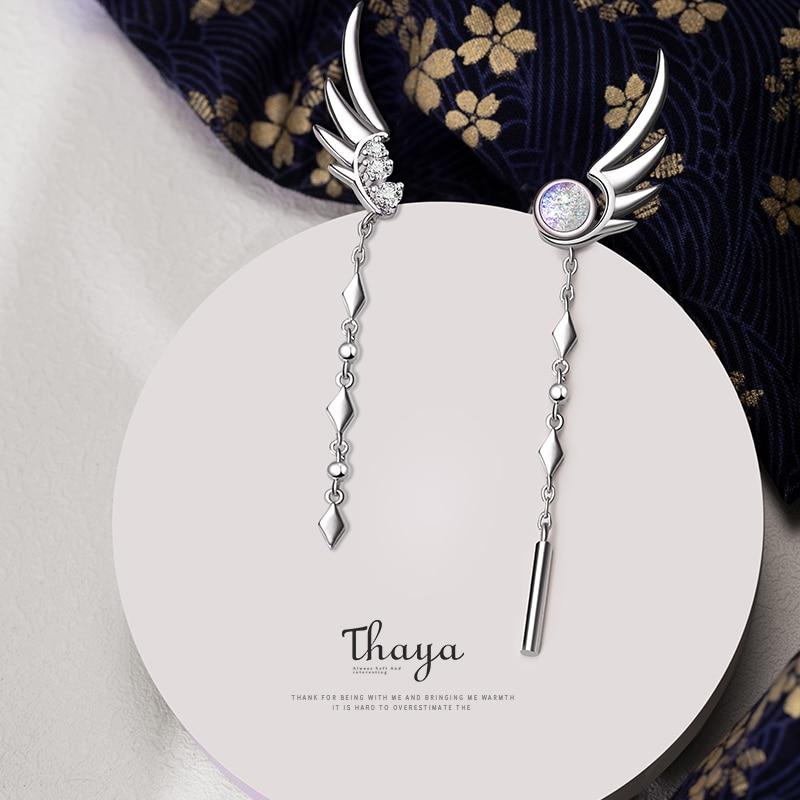 Angel Wings Drop Earring