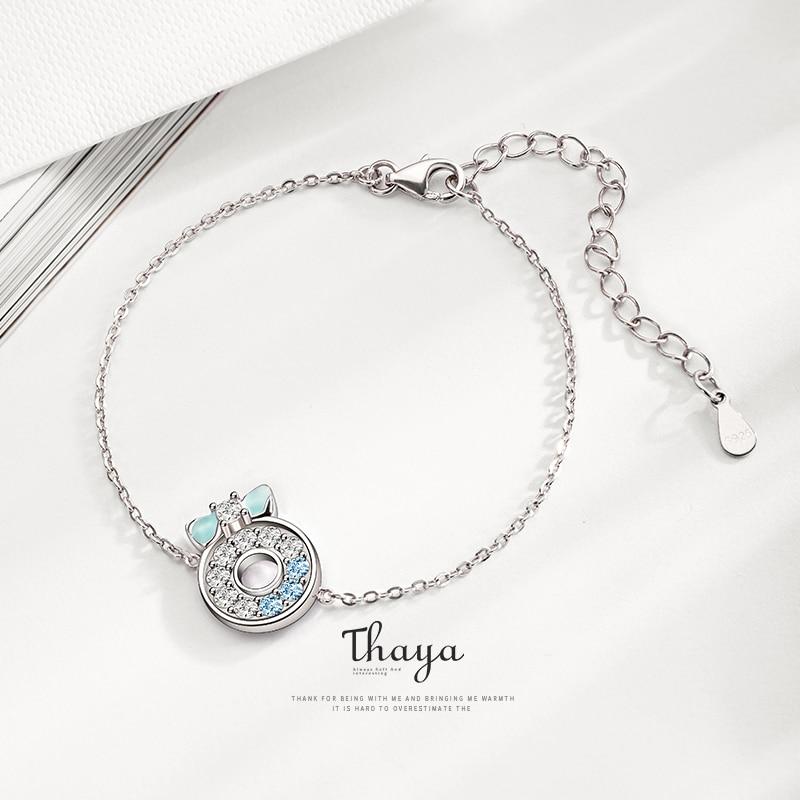 Silver Donut Bracelet Chain