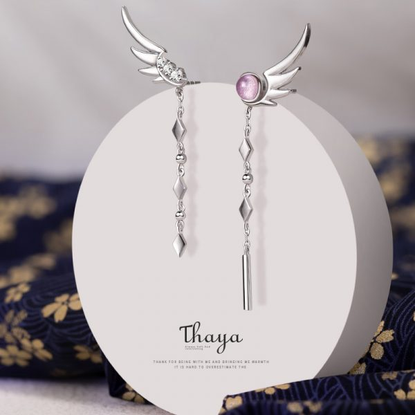 Angel Wings Drop Earring
