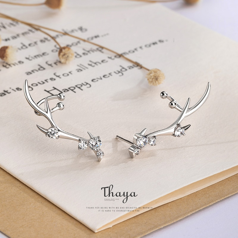 Deer Crown Earring