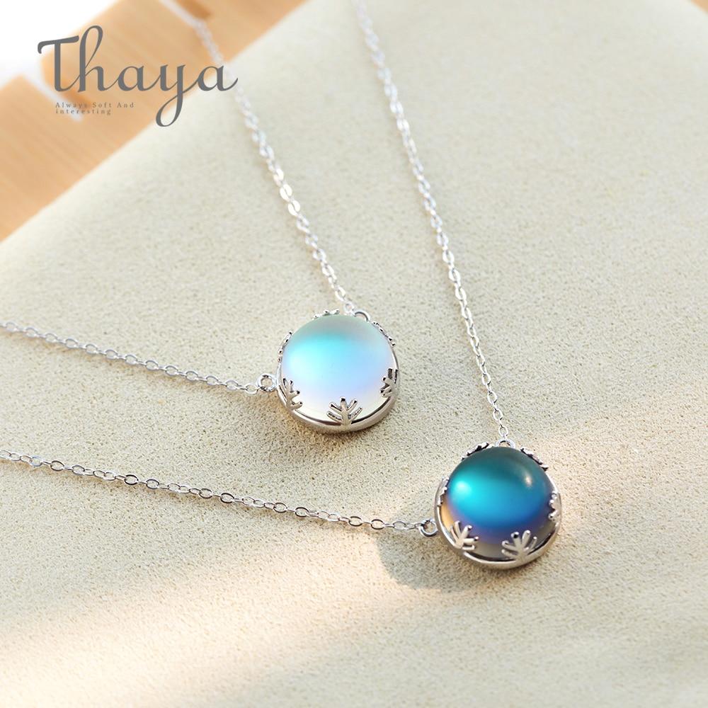 Silver Aurora Forest Light Necklace