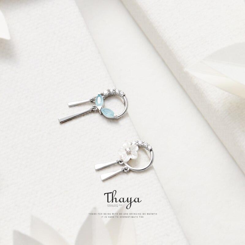 Flowers and Leaves Tassels Earrings