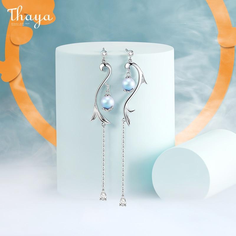 Mermaid Tail Drop Earrings