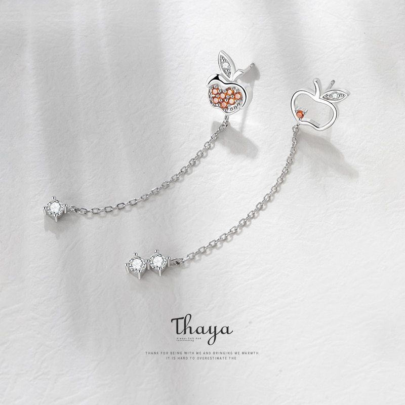 Red Apple Dangler Earrings