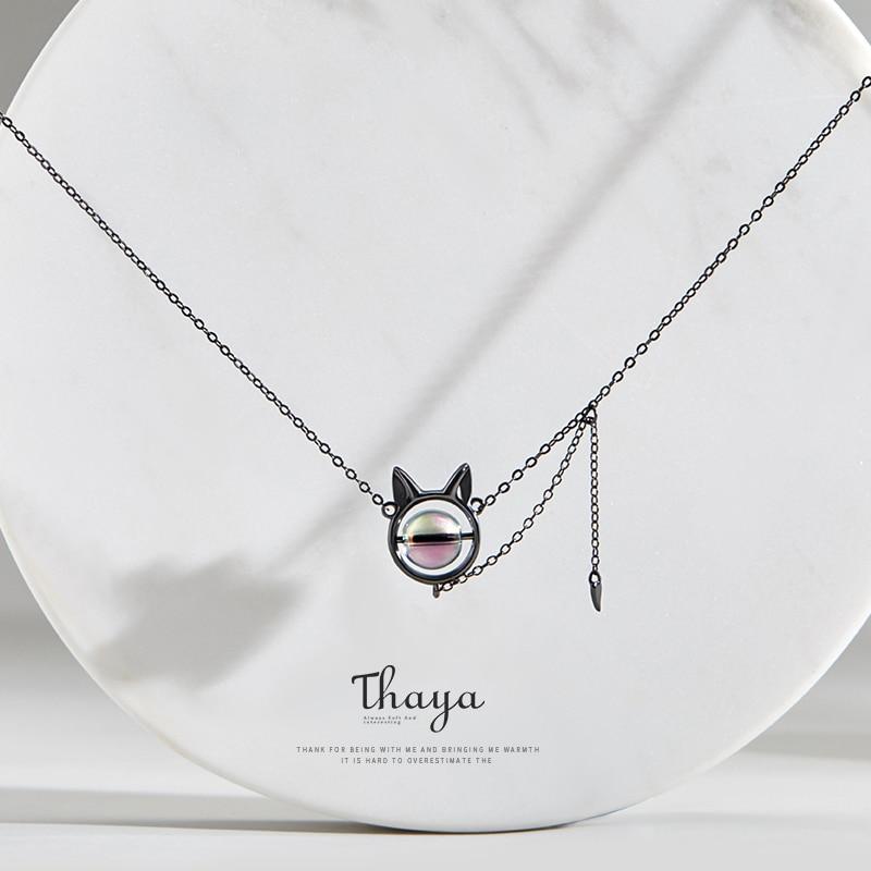 Black Kitty Necklace