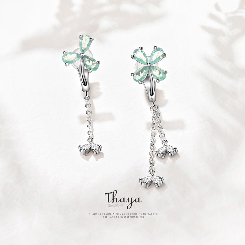 Clovers Clip-On Earrings