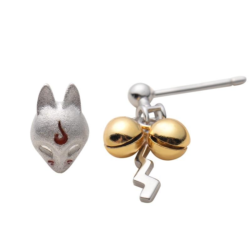 Fox Stud Earrings Golden Bell Earrings