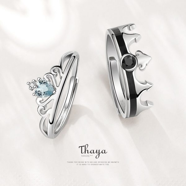 Snow Queen & King Couple Ring