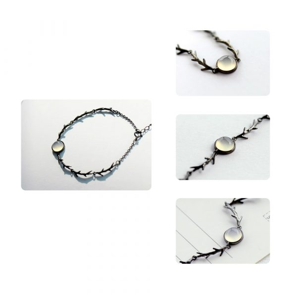 Twilight Moonstone Branch Bracelet