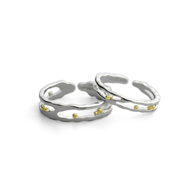 Gold Beads Couple Ring