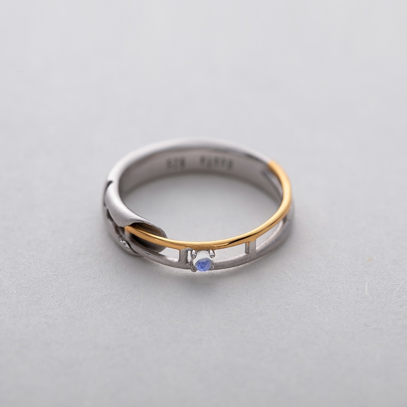 Rail Design Moonstone Couple Rings