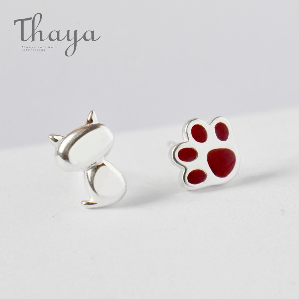 Cute Cat Paw Stud Earrings