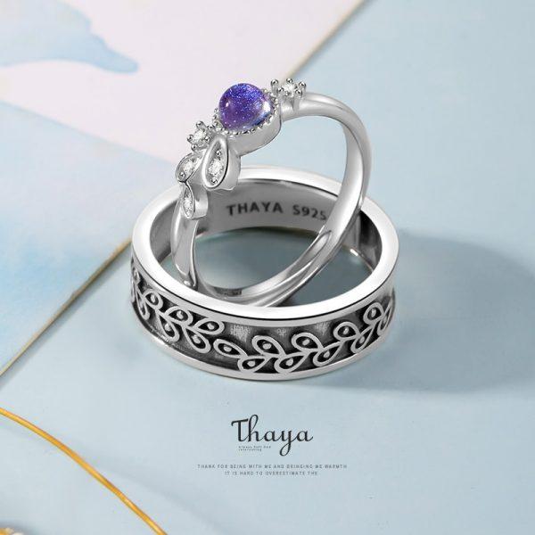 Purple Provence Couple Ring