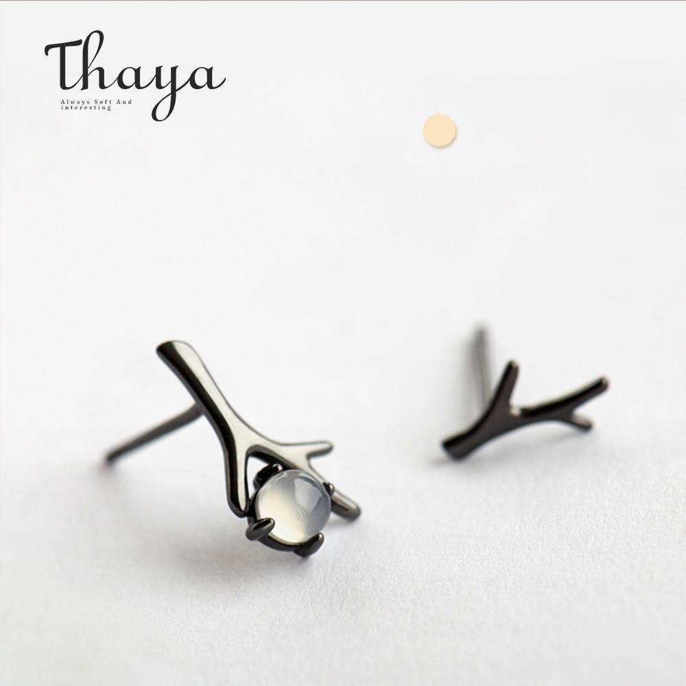 Moon Night Design Stud Earrings