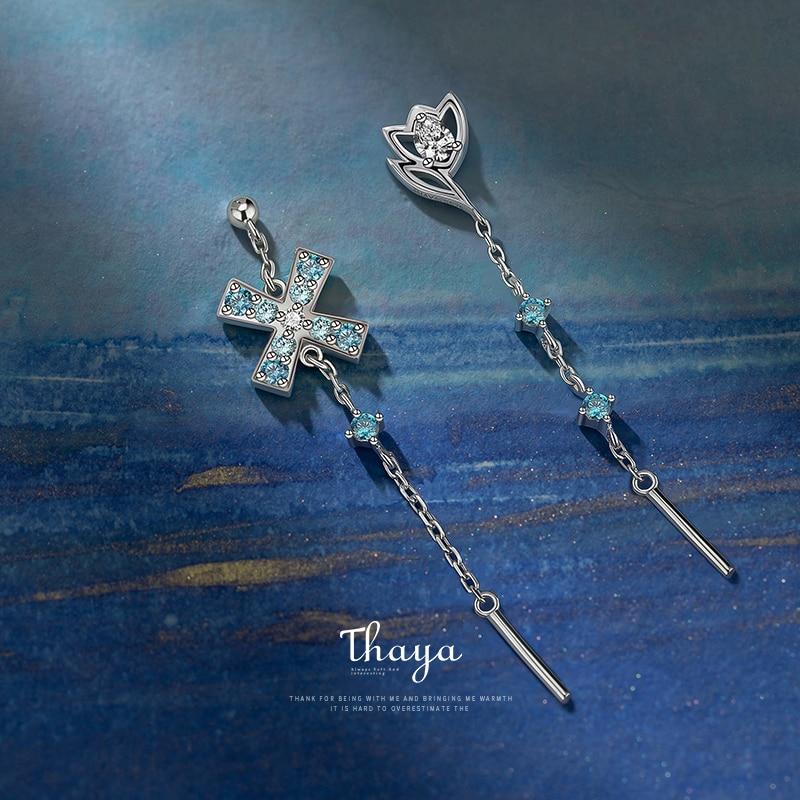 Sterling Silver Windmill Drop Earrings