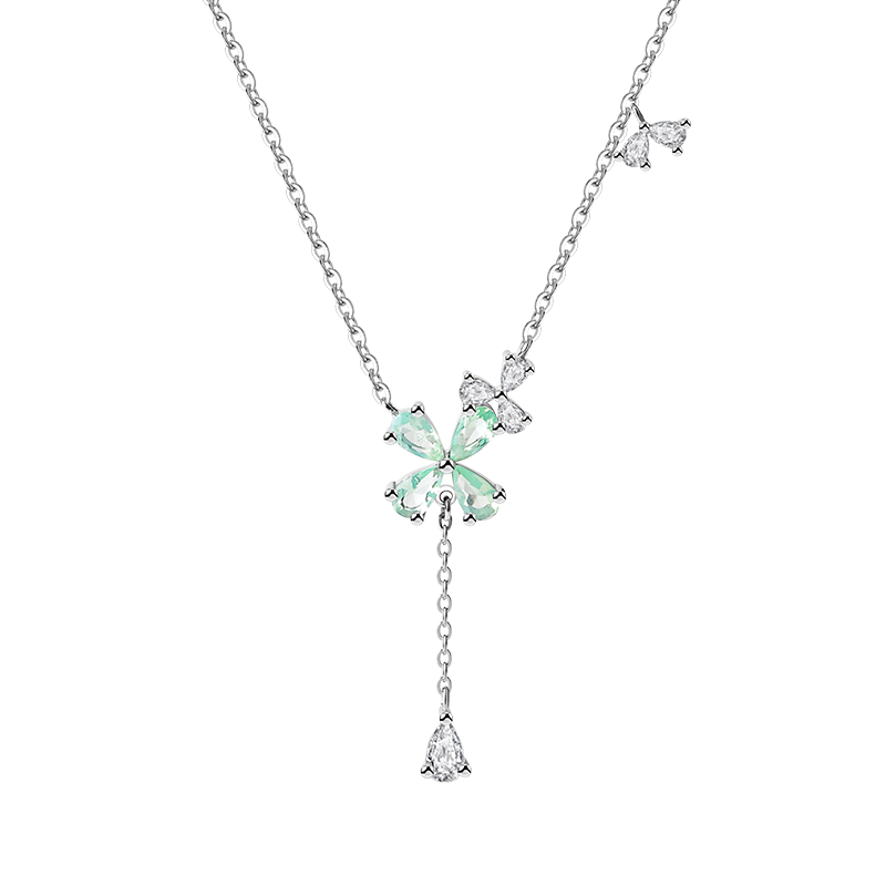 Sterling Silver Sun Flower Charm Necklace