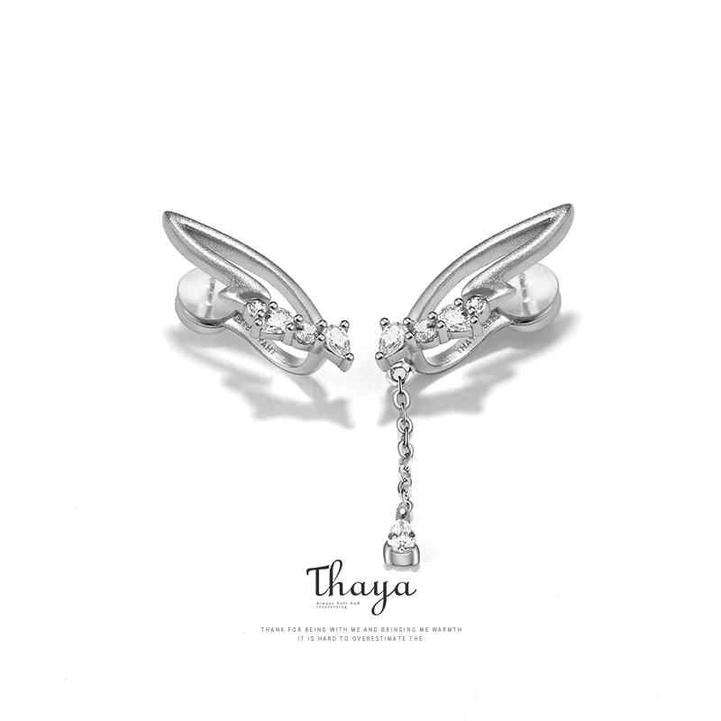 Angel Wings Clip On Earrings