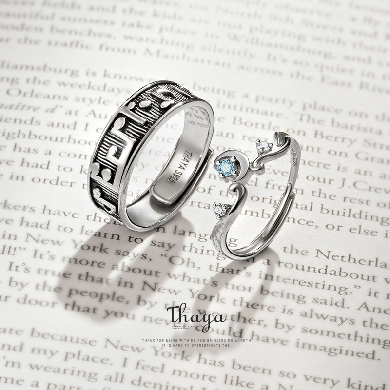 Sterling Silver Musical Note Open Ring