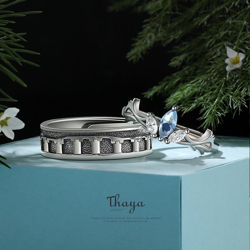 Petal Couple Rings