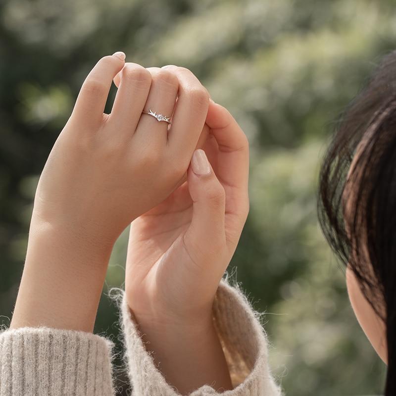 Black Little Deer Crown Couple Ring