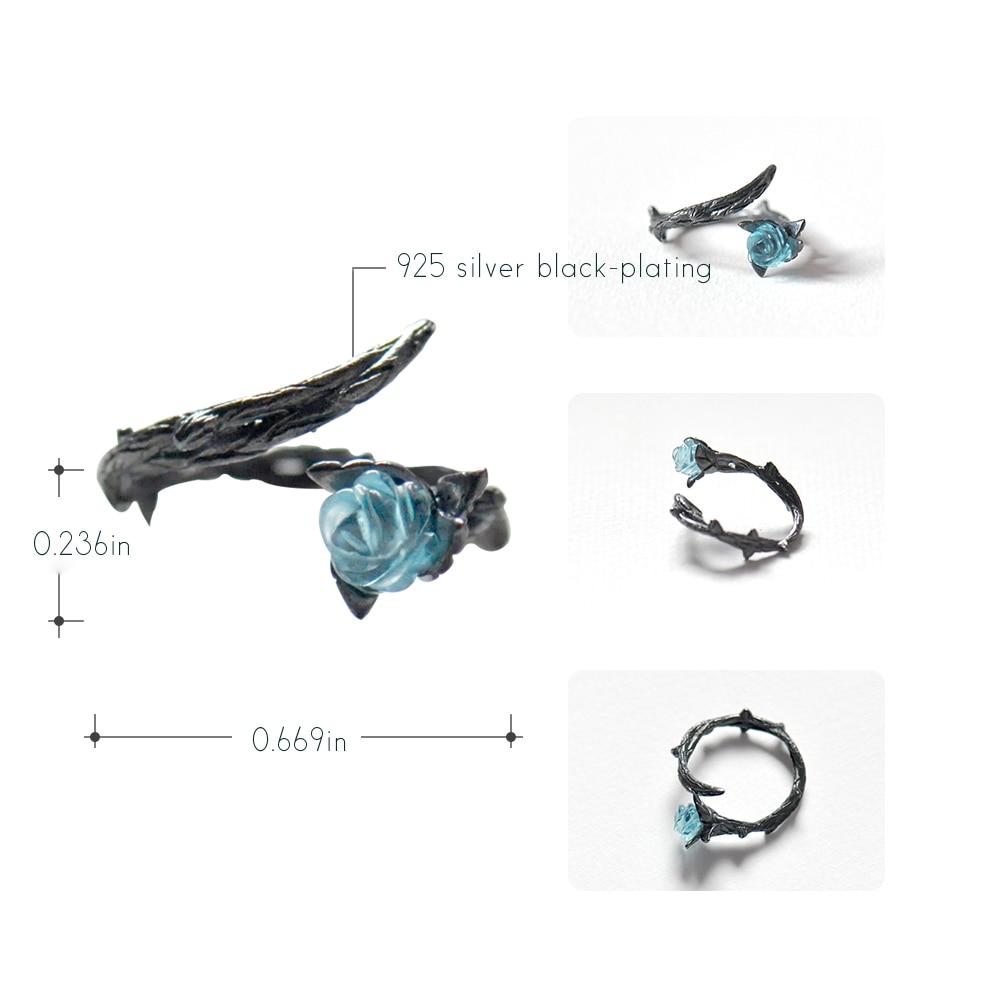 Blue Rose Thorn Ring