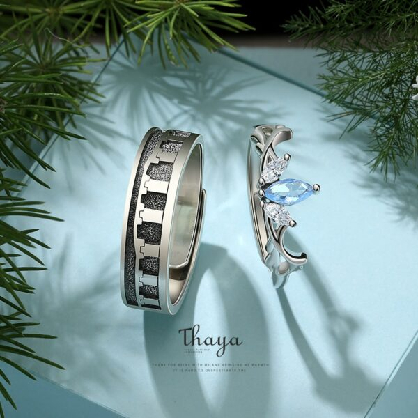 Petal Couple Rings