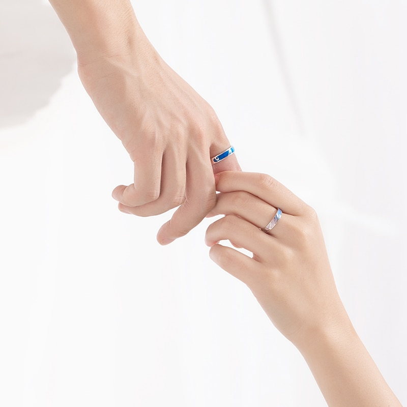 Color Gradient Adjustable Couple Ring
