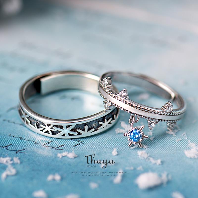 Christmas Snowflake Couple Rings