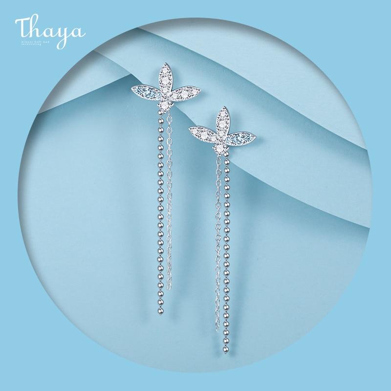 Lotus Chain Earrings