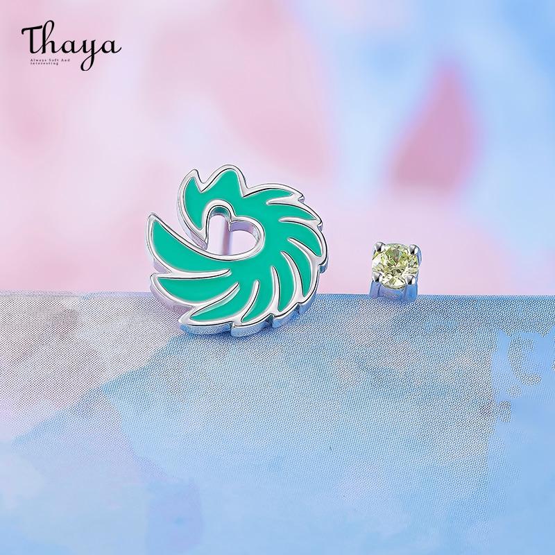 Jade & Flower Enamel Earrings
