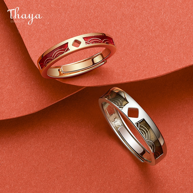 Gold Fish Couple Rings