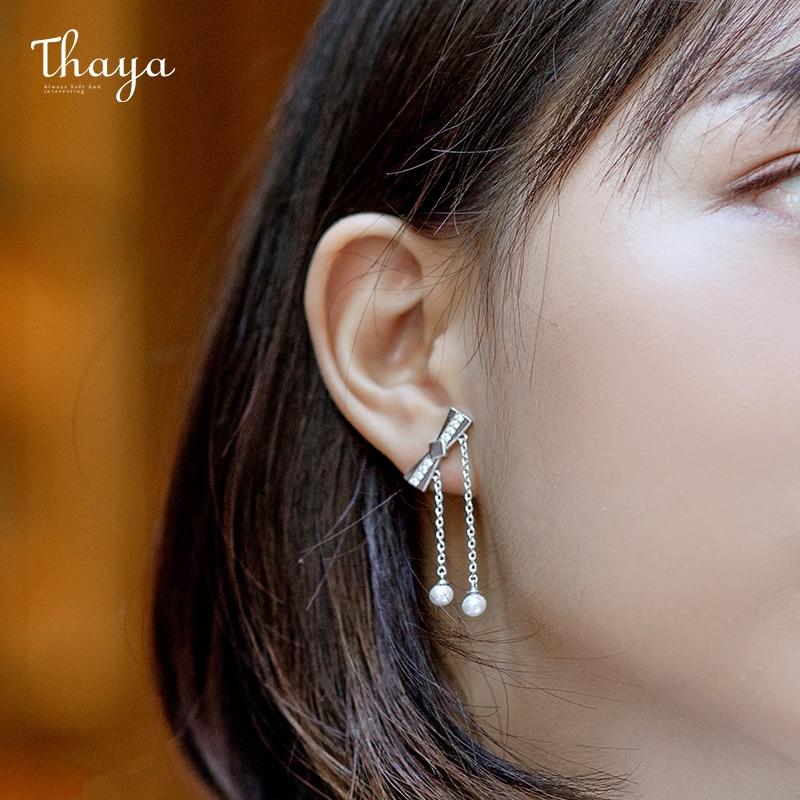 Bow-knot Tassel Earrings