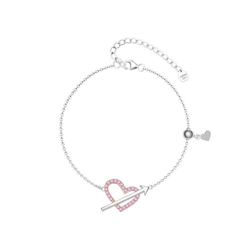 Tiny Pearls & Hearts Bracelet