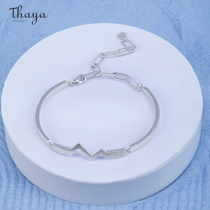 Ripple in Heart Couple Bracelet