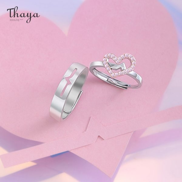 Heartbeat Couple Rings