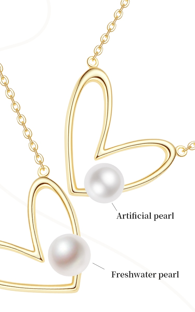 Heart Shaped Pearl Necklace