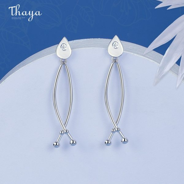 Fish Fin Cross Earrings